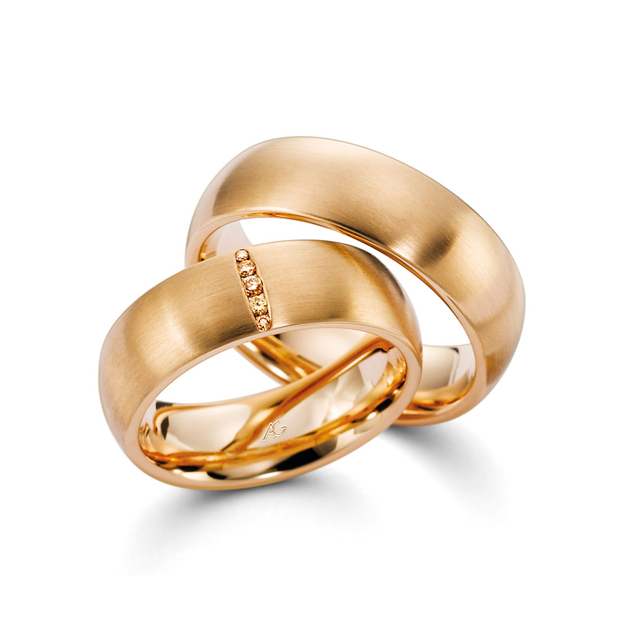 Trauringe von August Gerstner in Mittelgold 750 | Juwelier Wieland